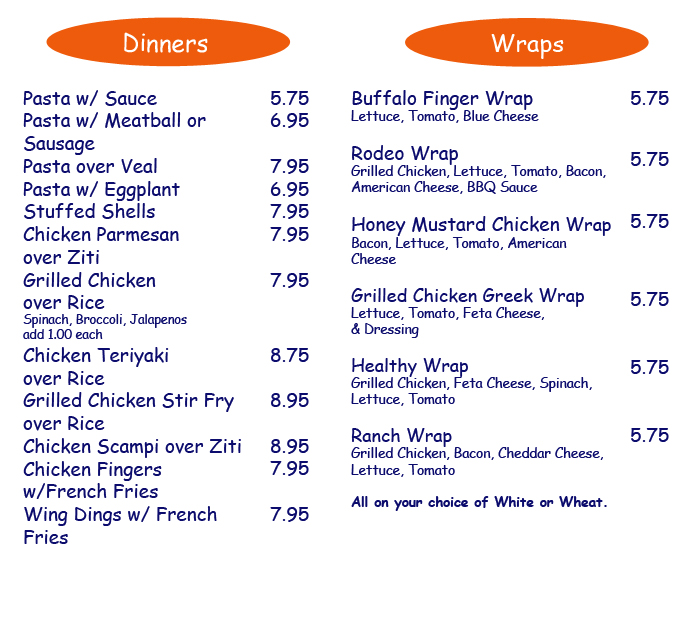 CLICK TO CALL ANY OF OUR LOCATIONS TO ORDER YOUR DELICIOUS DINNER OR WRAP
